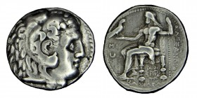 Kings of Macedon. Alexander III, the Great (336-323) BC. sılver, tetradrachm, 310-300 BC, Babil. Head of Athena r. with Corinthian helmet depicting th...