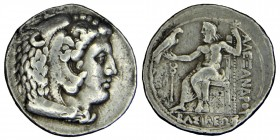 Kings of Macedon. Philip III circa (324-320) BC. Arados. Time of Alexander III, In the name and types of Alexander III. Struck under Menes or Laomedon...