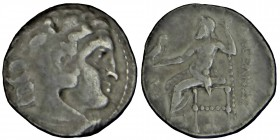 Kings of Macedon, Antigonos I (320-306/5) BC, Monophthalmos. Sılver drachm, or king, 306/5-301 BC. In the name and types of Alexander III. Kolophon, c...