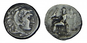 Kings of Macedon. Alexander III. (336 323 BC) silver drachm .Head of Heracles to right, wearing lion skin headdress. Rev. ΑΛΕΞΑΝΔΡΟΥ Zeus seated on ba...