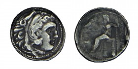 Kings of Macedon. Alexander III, (336 323 BC) silver drachm Head of Heracles to right, wearing lion skin headdress. Rev. ΑΛΕΞΑΝΔΡΟΥ Zeus seated on bac...
