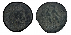EGYPT, Kingdom of, Ptolemy, (221-204 B.C.) Alexandria mint, obv. diademed head of Zeus Ammon to right, rev. eagle to left with closed wings, standing ...