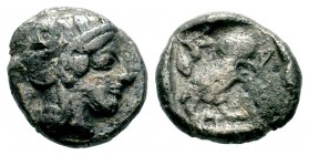 Attica, Athens AR . Circa 454-404 BC.