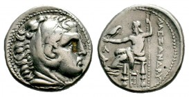 Kingdom of Macedon, Alexander III 'The Great' (336-323 B.C.). AR Tetradrachm Condition: Very Fine  Weight: 17,05 gr Diameter: 26,75 mm