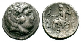 Kingdom of Macedon, Alexander III 'The Great' (336-323 B.C.). AR Tetradrachm Condition: Very Fine  Weight: 16,74 gr Diameter: 26,25 mm