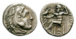 Kingdom of Macedon, Alexander III 'The Great' (336-323 B.C.). AR drachm Condition: Very Fine  Weight: 3,96 gr Diameter: 16,00 mm
