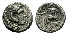 Kingdom of Macedon, Alexander III 'The Great' (336-323 B.C.). AR drachm Condition: Very Fine  Weight: 3,96 gr Diameter: 15,50 mm