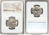 MACEDONIAN KINGDOM. Alexander III the Great (336-323 BC). AR tetradrachm (26mm, 8h). NGC XF, scuff. Early posthumous issue of 'Babylon', ca. 323-317 B...