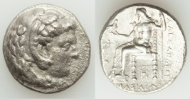 MACEDONIAN KINGDOM. Alexander III the Great (336-323 BC). AR tetradrachm (26mm, 16.64 gm, 1h). About XF, Fine Style, porosity. Late lifetime or early ...