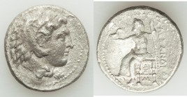 MACEDONIAN KINGDOM. Alexander III the Great (336-323 BC). AR tetradrachm (26mm, 16.20 gm, 11h). VF, graffiti, porosity. Lifetime issue of 'Babylon', c...