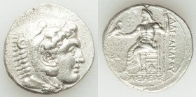 MACEDONIAN KINGDOM. Alexander III the Great (336-323 BC). AR tetradrachm (27mm, 16.64 gm, 6h). XF, porosity. Late lifetime-early posthumous issue of A...