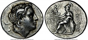 THRACIAN KINGDOM. Lysimachus (305-281 BC). AR tetradrachm (28mm, 11h). NGC VF. Uncertain Thracian Mint (Magnesia?), 297/6-282/1 BC. Diademed head of d...