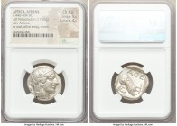 ATTICA. Athens. Ca. 440-404 BC. AR tetradrachm (24mm, 17.20 gm, 10h). NGC Choice AU 5/5 - 4/5. Mid-mass coinage issue. Head of Athena right, wearing c...