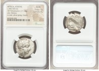 ATTICA. Athens. Ca. 440-404 BC. AR tetradrachm (24mm, 17.18 gm, 3h). NGC AU S 5/5 - 4/5. Mid-mass coinage issue. Head of Athena right, wearing crested...