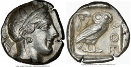 ATTICA. Athens. Ca. 440-404 BC. AR tetradrachm (26mm, 17.14 gm, 4h). NGC AU 5/5 - 4/5. Mid-mass coinage issue. Head of Athena right, wearing crested A...