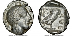 ATTICA. Athens. Ca. 440-404 BC. AR tetradrachm (26mm, 17.07 gm, 7h). NGC Choice XF 5/5 - 4/5. Mid-mass coinage issue. Head of Athena right, wearing cr...
