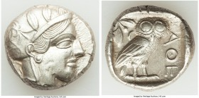 ATTICA. Athens. Ca. 440-404 BC. AR tetradrachm (29mm, 17.18 gm, 7h). Choice XF. Mid-mass coinage issue. Head of Athena right, wearing crested Attic he...