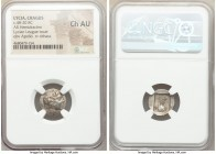 LYCIAN LEAGUE. Cragus. Ca. 48-20 BC. AR hemidrachm (15mm, 12h). NGC Choice AU. Series 1. Laureate head of Apollo right; Λ-Y below / K-P, cithara (lyre...