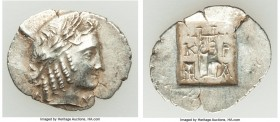LYCIAN LEAGUE. Cragus. Ca. 48-20 BC. AR hemidrachm (18mm, 1.58 gm, 1h). XF. Series 2. Laureate head of Apollo right wearing wreath and taenia; Λ-Y bel...