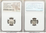 LYCIAN LEAGUE. Masicytes. Ca. 48-20 BC. AR hemidrachm (16mm, 1.98 gm, 12h). NGC MS 5/5 - 4/5. Series 3. Laureate head of Apollo right; Λ-Y below / M-A...