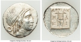 LYCIAN LEAGUE. Masicytes. Ca. 48-20 BC. AR hemidrachm (15mm, 1.96 gm,12h). AU. Series 4. Head of Apollo right, wearing taenia / ΛΥΚΙΩΝ, cithara (lyre)...