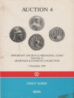 CREDIT SUISSE. Auction 4 Bern, 3/12/1985. Important ancient & medieval coins including an Armenian & Judaean collection. Editorial binding, pp. 133, l...