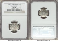 Frankfurt. Free City Albus 1681 MS66 NGC, KM108.2. Sharply detailed and with argent luster over the rolled flan.  HID09801242017