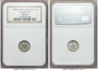 Frankfurt. Free City Kreuzer 1780 G-PCB-N MS64 NGC, KM265.1. Borderline gem with olive-gray tone.  HID09801242017