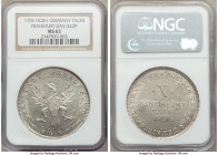 Frankfurt. Free City Taler 1796-HGBH MS63 NGC, KM288, Dav-2229. Even gray color and full mint bloom.  HID09801242017