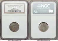 Frankfurt. Free City silver Pattern 3/4 Ducat 1764 AU55 NGC, cf. Fr-1027 (gold striking). Another engaging pattern, struck in silver, with dappled rus...
