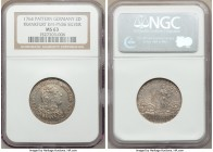 Frankfurt. Free City silver Pattern 2 Ducat 1764 MS63 NGC, KM-Pn36. The surfaces of this example are so original and seemingly untouched.  HID09801242...