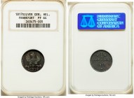 Frankfurt. Free City silver Proof Pattern Heller 1817 PR64 NGC, KM-Pn68. An outstanding Proof specimen with shimmering color over both sides.  HID0980...