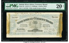 British West Africa West African Currency Board 2 Shillings 30.3.1918 Pick 2b PMG Very Fine 20Net. Previously mounted, thinning, annotations.  HID0980...