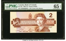 Canada Bank of Canada $2 1986 BC-55a PMG Gem Uncirculated 65 EPQ.   HID09801242017
