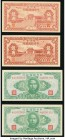 China Central Reserve Bank of China 50 Cents = 5 Chiao 1943 Pick J18a; J18b; 1 Yuan 1943 Pick J19a (2); 10 Yuan 1943 Pick J20a; 100 Yuan 1943 Pick J21...