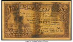 Egypt National Bank of Egypt 50 Piastres 31.1.1915 Pick 11 Fine. Numerous tape repaired tears.  HID09801242017