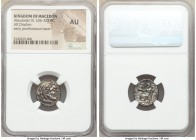 MACEDONIAN KINGDOM. Alexander III the Great (336-323 BC). AR drachm (17mm, 1h). NGC AU. Early posthumous issue of Magnesia ad Maeandrum, ca. 319-305 B...