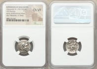 MACEDONIAN KINGDOM. Alexander III the Great (336-323 BC). AR drachm (17mm, 12h). NGC Choice VF. Late lifetime-early posthumous issue of 'Teos', ca. 32...