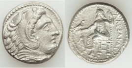 MACEDONIAN KINGDOM. Alexander III the Great (336-323 BC). AR tetradrachm (24mm, 16.66 gm, 10h). Choice XF, porosity. Late lifetime-early posthumous is...