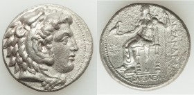 MACEDONIAN KINGDOM. Alexander III the Great (336-323 BC). AR tetradrachm (27mm, 16.65 gm, 7h). Choice AU, porosity. Late lifetime to early posthumous ...