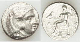 MACEDONIAN KINGDOM. Alexander III the Great (336-323 BC). AR tetradrachm (25mm, 16.85 gm, 11h). Choice VF, porosity. Late lifetime-early posthumous is...
