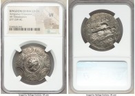 MACEDONIAN KINGDOM. Antigonus II Gonatas (277/6-239 BC). AR tetradrachm (32mm, 8h). NGC VF, scuff. Amphipolis, ca. 274/1-260/55 BC. Horned head of Pan...
