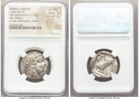 ATTICA. Athens. Ca. 440-404 BC. AR tetradrachm (24mm, 17.21 gm, 1h). NGC Choice AU 5/5 - 4/5. Mid-mass coinage issue. Head of Athena right, wearing cr...