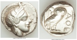 ATTICA. Athens. Ca. 440-404 BC. AR tetradrachm (25mm, 17.18 gm, 2h). VF. Mid-mass coinage issue. Head of Athena right, wearing crested Attic helmet or...