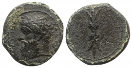 Sicily, Syracuse, c. 344-339/8 BC. Æ (16mm, 2.83g, 3h). Laureate head of Zeus Eleutherios l. R/ Upright thunderbolt. CNS II, 74; SNG ANS 489; HGC 2, 1...