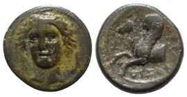 Sicily, Syracuse, 344-317 BC. Æ (13mm, 2.53g, 3h). Head of Arethousa facing slightly l. R/ Forepart of Pegasos l. CNS II, 92; SNG ANS 1384; HGC 2, 150...