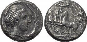 SICILY. Syracuse. Second Democracy (466-405 BC). Tetradrachm. Unsigned dies in the style of Eukleidas.