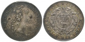 Louis XV 1715–1774  Jeton, ND , 15.32 g. AG. Avers: LUD. XV. REX - CHRISTIANISS. Revers: CIVITAS POPULUS QUE ROTHOMAGENSIS . Ref : Feuardent 6213 PCGS...