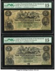 Canada Moncton, NB- Westmorland Bank $5 1.8.1861 Ch. # 800-12-06 Two Examples PMG Choice Fine 15.   HID09801242017