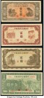 A Quartet of Higher Denomination Issues from Japanese Puppet Banks in China. Very Fine or Better.   HID09801242017